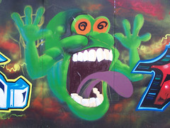 Slimer (ruby_dust) Tags: streetart movie graffiti grafitti graffitti ghostbusters slimer