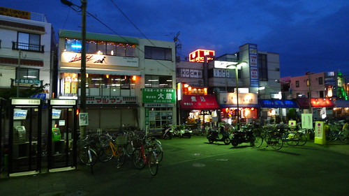 Miurakaigan shops at night