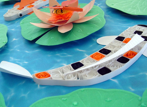 Paper Quilling Koi Watergarden (close up)