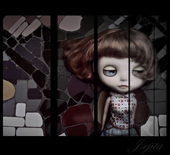 what would life be without color... (jjita) Tags: color colour collage doll wind manipulation puzzle desaturation desaturated blythe dolly partial erregirosblythe