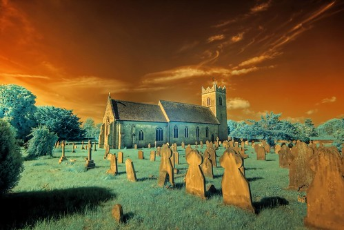 Infrared HDR St Mary's church Ellingham Norfolk