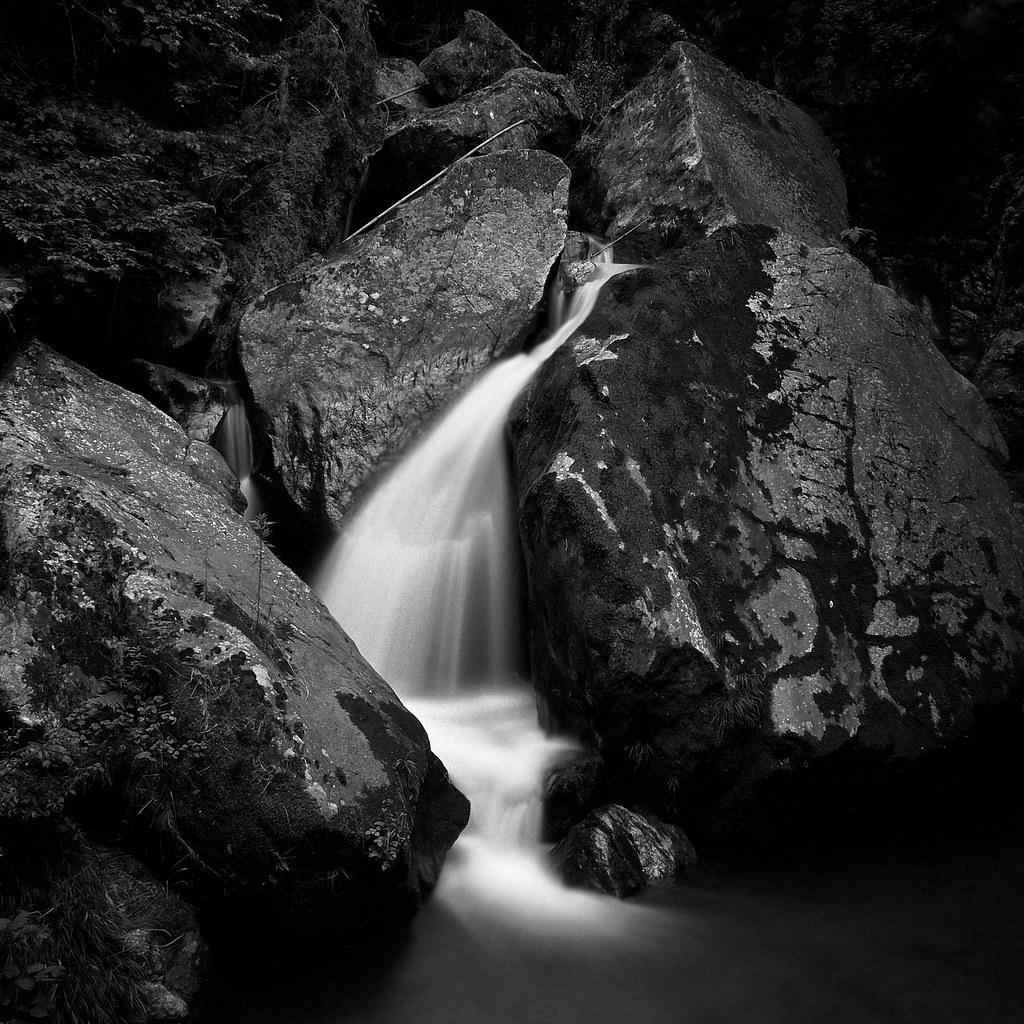 Monochrome Waterfall