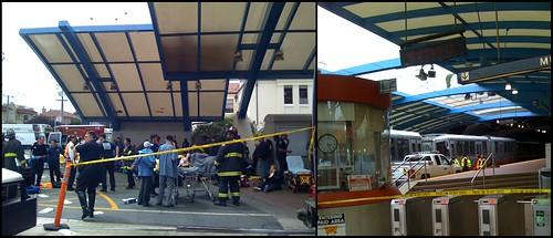 Muni Crash at West Portal Station in San Francisco