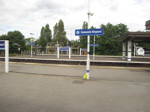 Gatwick train station