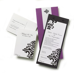 Tiered Damask Invitation