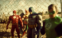 gang of four (soyboy7) Tags: west green night america comics toy hall justice dc nikon allen action bruce wayne flash jordan barry figure superhero batman carter hal lantern wally league jla d60 hawkman blackest