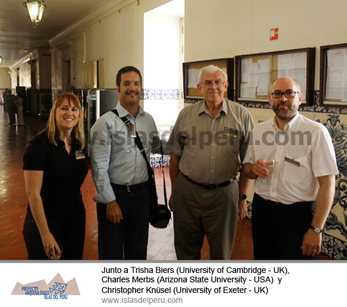 Junto a Trisha Biers (University of Cambridge - UK), Charles Merbs (Arizona State University - USA)  y Christopher Knüsel (University of Exeter - UK)