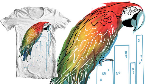 3802845978 da806b378d Watercolor Parrot Tee, one week only!