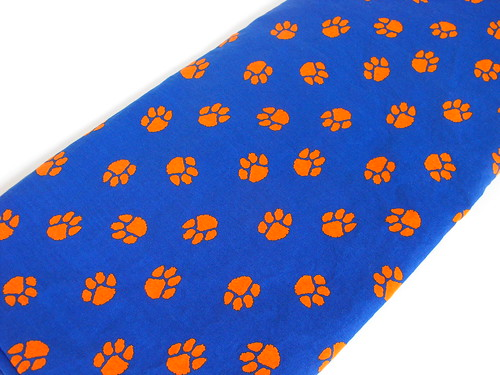 Clemson Tigers Fabric Orange/Blue