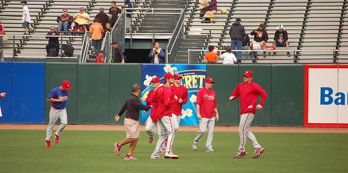 Phillies v. Giants Warm-up: Little jog