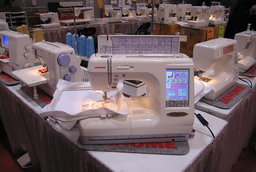 Sophisticated computerized sewing machine