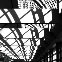 Shadow play (kevin dooley) Tags: light shadow window canon support san downtown ltr low sigma diego center f10 beam convention infrastructure resolution 28 repeat tonal xoxo repeating 105mm repetitive 40d