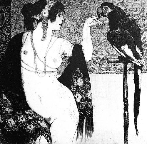 lady & parrot