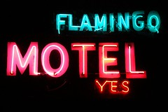 MI, Port Huron-MI 21(Old) Flamingo Motel Neon Sign