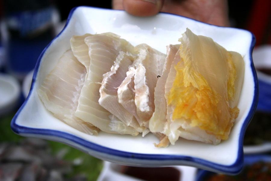Hongtak sashimi