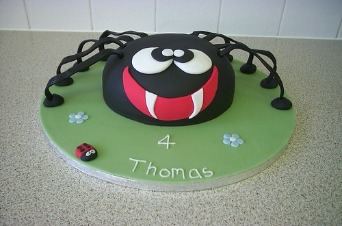 Scary Spider Cake