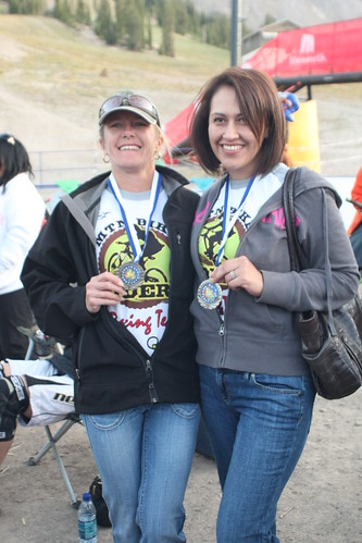 mtnbikeriders.com race team member Kim Finch and Priscilla Policar