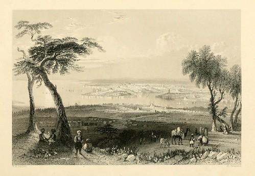 011- Vista desde el monte Bulgurlhu-Las bellezas del Bosforo 1838-W.H. Bartlett