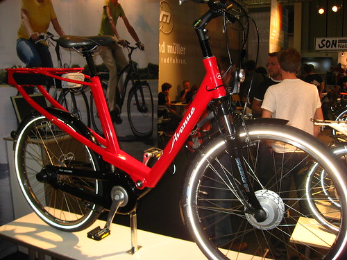One of hundreds of electric bikes. I liked this one for the battery, hidden in the rear rack.