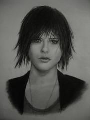Finished Kate Moennig sketch (blue_sunshinek) Tags: sketch shane drawing kate charcoal actress miranda threerivers lword moennig mccutsheon