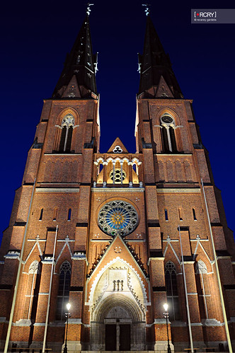 Uppsala cathedral by osteras.