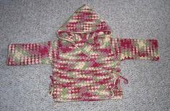 Crochet Baby Kimono Wrap Pattern : FML Crochet: Baby Kimono Wrap With Hood