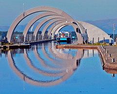 BARGE IN BLUE (kenny barker) Tags: beautiful picture most falkirkwheel bej mywinners abigfave colorphotoaward theunforgettablepictures mbpictures daarklands