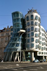 Dancing Building (veronikaa) Tags: city urban building by architecture modern frank design arquitectura nikon republic dancing czech prague contemporary gehry frankgehry moderna dancingbuilding d5000