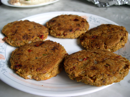 The Vegan Mouse: Black Eyed Pea Potato Burgers and Date Loaf Cake