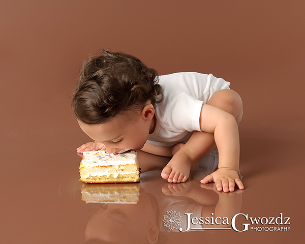 An interesting way to eat birthday cake