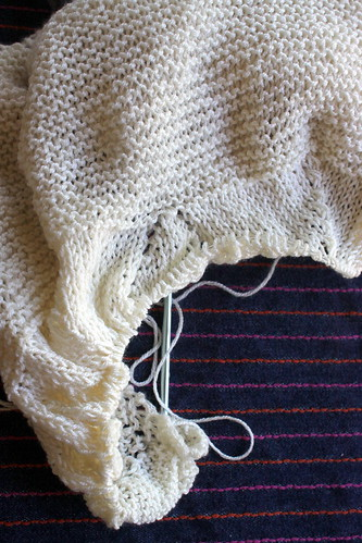 Wedding Shawl Progress