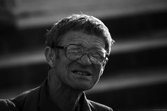 CRW_00913 (antsyshkin) Tags: street old portrait man detail backlight glasses emotion bokeh moscow candid stranger telephoto russian wrinkles