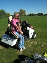 Erika, golfing