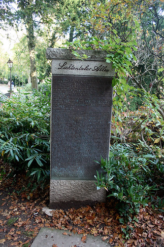Lichtentaler Allee - Gedenkstein
