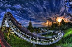 Jet Coaster (/\ltus) Tags: sunset japan pentax rollercoaster suzuka hdr k7 japanhdr