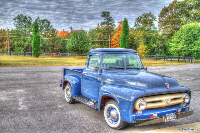 blue ford truck supershot canon7d 1953fordf100