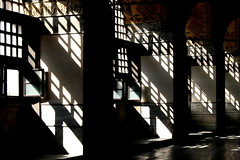 Sun through the windows of Hagia Sophia