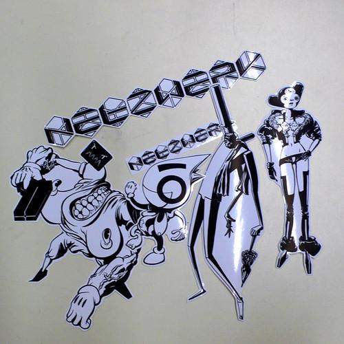 Netzwerk Sticker Set