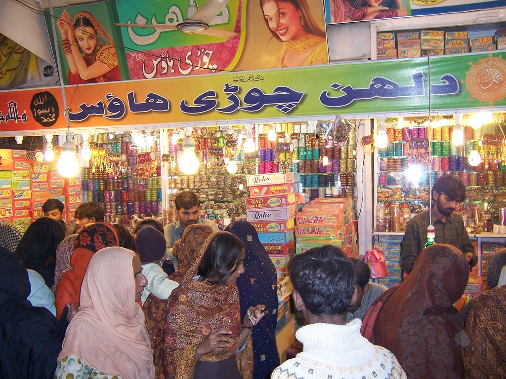 Pakistani market at night