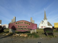 Anvil City Square (Travis S.) Tags: church grass alaska square town downtown village cross lawn steeple stjosephs nome northeast survey dredge 1901 sewardpeninsula anvilcitysquare anvilcity stewartriver stewartrivericepatchsurvey oldstjospehschurch
