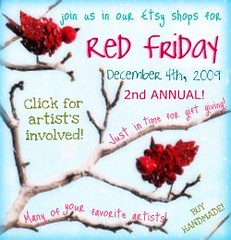 2nd annual Etsy RED FRIDAY Blog Badge 2009