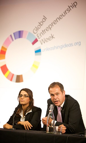 Peter Jones and Priya Lakhani from Masala Masala discuss enterprise education by Enterprise_UK.