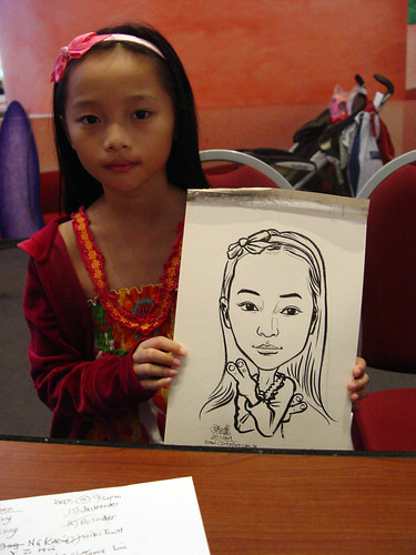 Caricature live sketching for Marina Square X'mas Tenants Gathering 2009 - 26