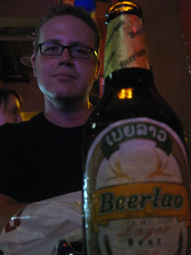 My first BeerLao, at a bar on Khao San Rd