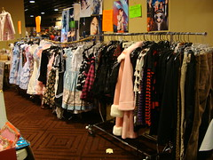 Color Lolita Dresses - Anime USA 2009 (Dreaming Magpie) Tags: city usa sun anime cute japan arlington fun japanese costume clothing colorful doll dress crystal cosplay room sunday gothic manga culture skirt clothes lolita dresses rack 09 va harajuku convention kawaii otaku 2009 purchase con dealer animeusa clother ausa