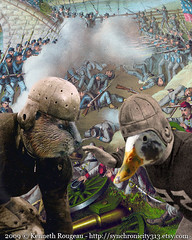Beavers vs. Ducks - Oregon Civil War (kenneth_rougeau) Tags: art college rivalry collage oregon digital photomanipulation soldier rebel duck football artwork war university union ducks beaver civilwar fantasy uo osu soldiers prints rosebowl etsy 2009 kenneth uofo universityoforegon oregonstate americanfootball anthropomorphism beavers anthropomorphic oregonducks collegefootball digitalcollage commisioned anthropomorph rougeau kennethrougeau oregonbeavers