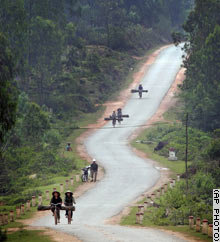 Ho Chi Minh highway near Vinh,Vietnam