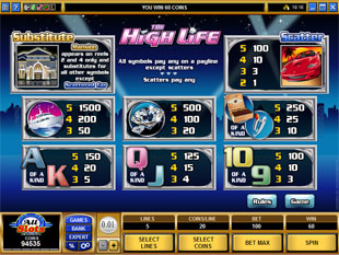 free The High Life slot mini symbol