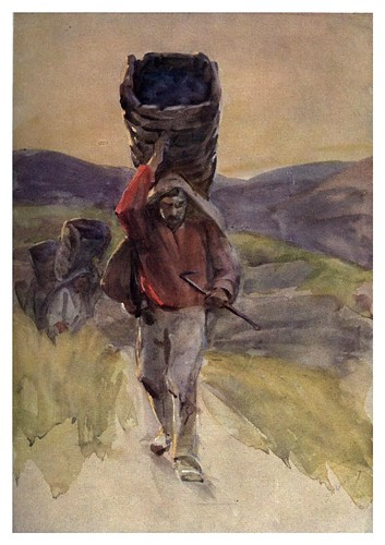 024-Transportando las uvas-Portugal its land and people- Ilustraciones de S. Roope Dockery 1909