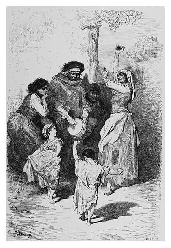 004-Baile de niños gitanos en el Sacro-Monte-Spain (1881)- Doré Gustave